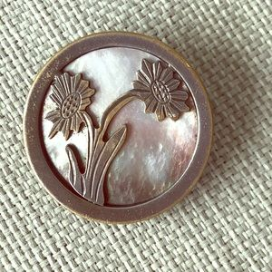 Jewelry - Vintage Metal and Mother of Pearl Brooch.